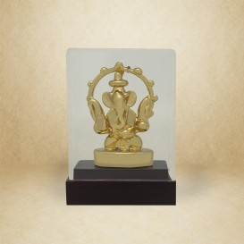 Ganesha on wooden base