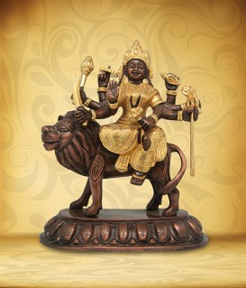 ANEKA Durga on Lion
